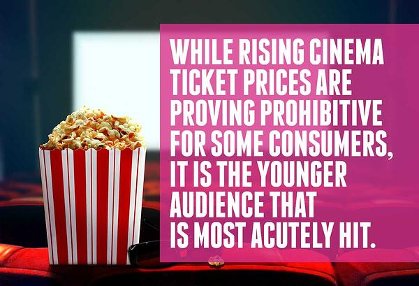 Cinema price rises affect younger audiences more acutely